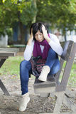 Woman in depression Royalty Free Stock Image