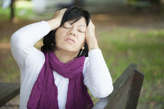 Woman in depression Stock Photos