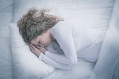 Woman with depression royalty free stock photo