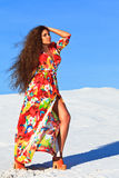 Woman in desert Royalty Free Stock Image