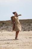 Woman in desert Stock Image