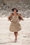 Woman in desert Stock Photos