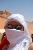 Woman in the desert, Jordan Stock Photos