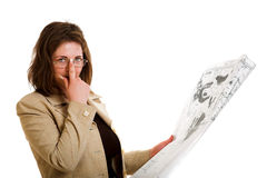 Woman with a design drawing Royalty Free Stock Photography