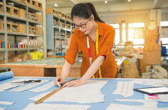 Woman designer profession and job occupation Stock Image