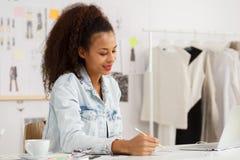 Woman designer working Royalty Free Stock Image