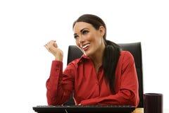 Woman at desk Royalty Free Stock Photos