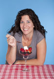 Woman and dessert Royalty Free Stock Photos