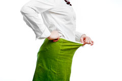 Woman on diet. Woman in green skirt showing effects of diet Royalty Free Stock Images