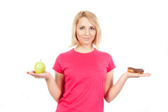 Woman on a diet Stock Photos