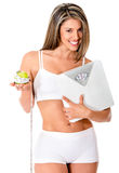Woman on a diet Stock Photography