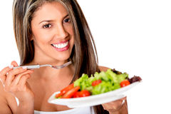 Woman on a diet Royalty Free Stock Photo