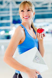 Woman on a diet Stock Images