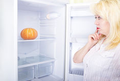 Woman and diet Stock Photography