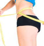 Woman diet concept with measuring tape Stock Images