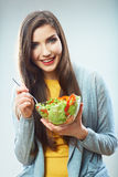 Woman diet concept portrait Royalty Free Stock Photo