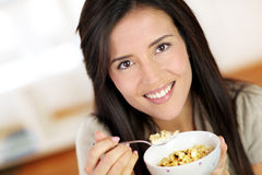 Woman and diet food Stock Photography
