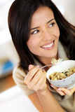 Woman and diet food Royalty Free Stock Image