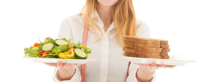 Woman with diet Royalty Free Stock Photography