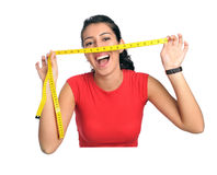 Woman diet time Stock Photography