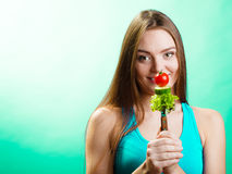 Woman on diet weight loss concept. Stock Image