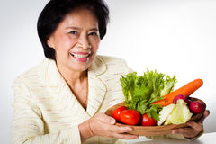 Woman dietician Stock Images