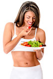 Woman dieting Royalty Free Stock Photography