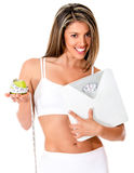 Woman dieting Royalty Free Stock Photos