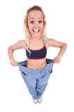 Woman in dieting concept Stock Photos