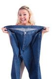 Woman in dieting concept Royalty Free Stock Photo