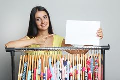 Woman with different clothes Stock Image