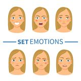 Set of different emotions Royalty Free Stock Image