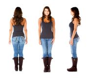Woman in different poses Royalty Free Stock Photography