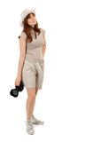 Woman with digital camera Royalty Free Stock Photo