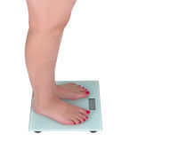 Woman and digital scale Stock Photography