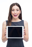 Woman with digital tablet Stock Image