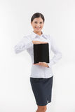 Woman with digital tablet. Stock Photos