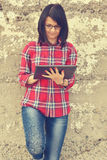 Woman with digital tablet pc Royalty Free Stock Photography