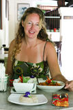 Woman dining Royalty Free Stock Photo