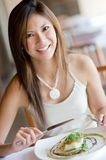 Woman At Dinner Stock Photography