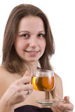 Woman dirinking tea Royalty Free Stock Photos