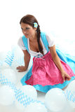 Woman in Dirndl Royalty Free Stock Photography