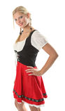 Woman in Dirndl. Beautiful woman in a Dirndl stock images