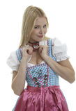 Woman in Dirndl Stock Image