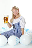 Woman in Dirndl Royalty Free Stock Image