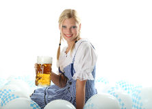 Woman in Dirndl Royalty Free Stock Images