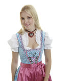 Woman in Dirndl. With necklace Royalty Free Stock Image