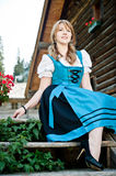 Woman in Dirndl stock photography