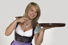 Woman in a dirndl Royalty Free Stock Photography
