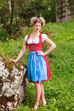 Woman in dirndl Stock Photos